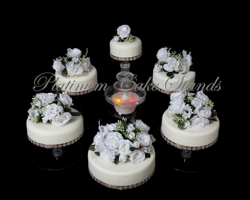 6 Tier Clear Wedding Cascade Cupcake Cake Stand Style R601