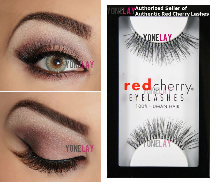 2x red cherry trace 217 false eyelashes artificial black human picture 5 of 5 pmusecretfo Image collections