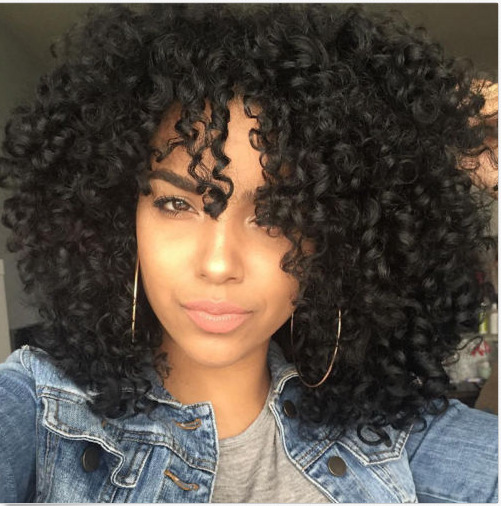 2017 hair black synthetic wig long curly afro african. Black Bedroom Furniture Sets. Home Design Ideas