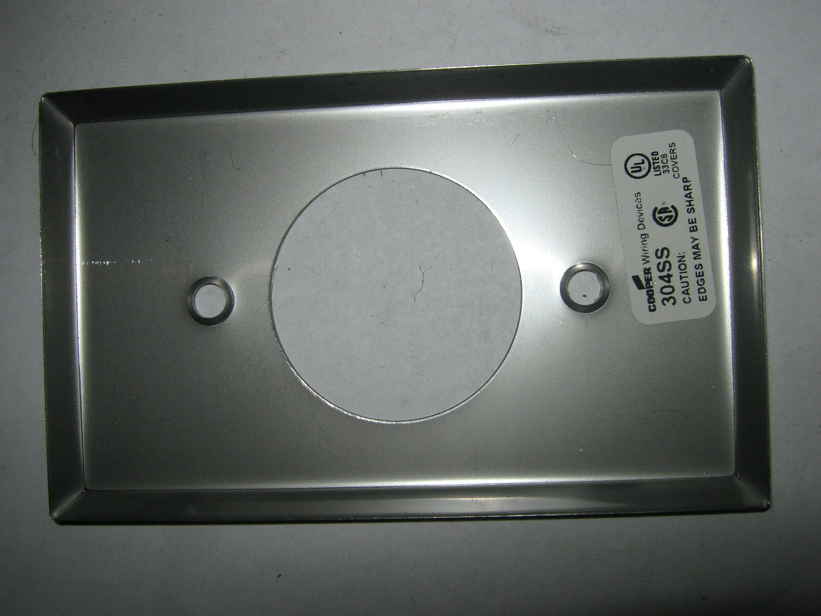 Stainless Steel Outlet Covers Cooper 304Ss Stainless Steel Wallplate Outlet Cover In Factory Bag