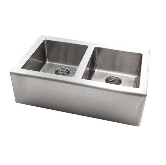 Pegasus AP2033 Apron Stainless Steel Large Double Bowl Kitchen ...