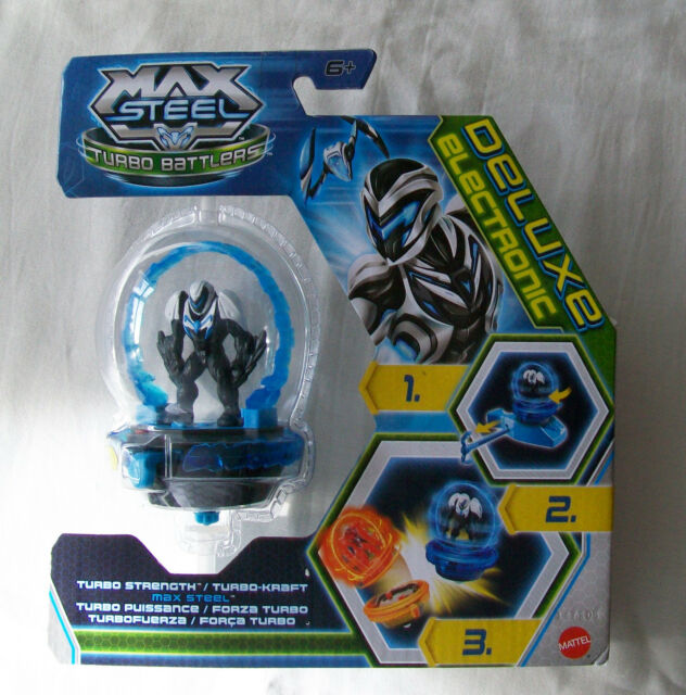 MAX STEEL Turbo Strength Turbo Battlers Toy. Contains 5cm Figure. Mattel Y1400