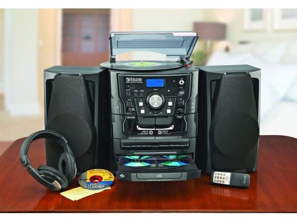 Encore Shelf Stereo System With Turntable 3-cd Radio and ...