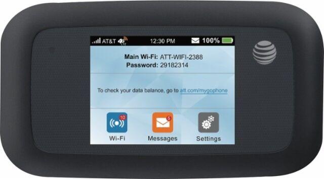 AT&T UNLIMITED Data 4G LTE: ZTE Velocity Hotspot PLUS 1 Month Unlimited SIM Card