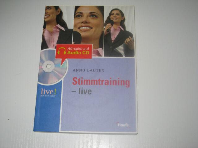 Stimmtraining - live, m. Audio-CD von Anno Lauten (2006, Taschenbuch)