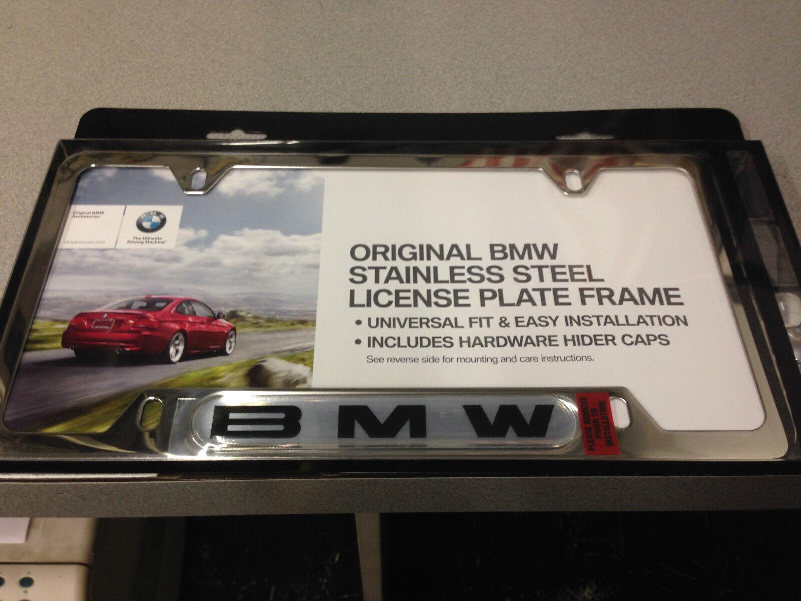 BMW OEM LICENSE PLATE FRAME- POLISHED (NEW WITH WARRANTY) | eBay
