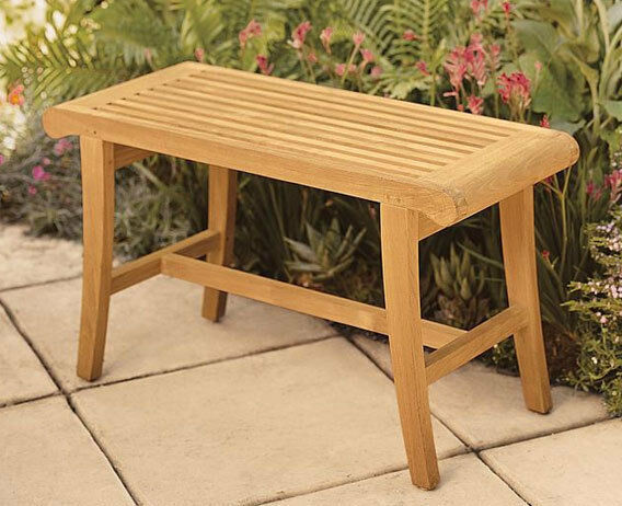 Grade-a TEAK Wood Occasional Bench Stool Shower Spa Bath Outdoor ...