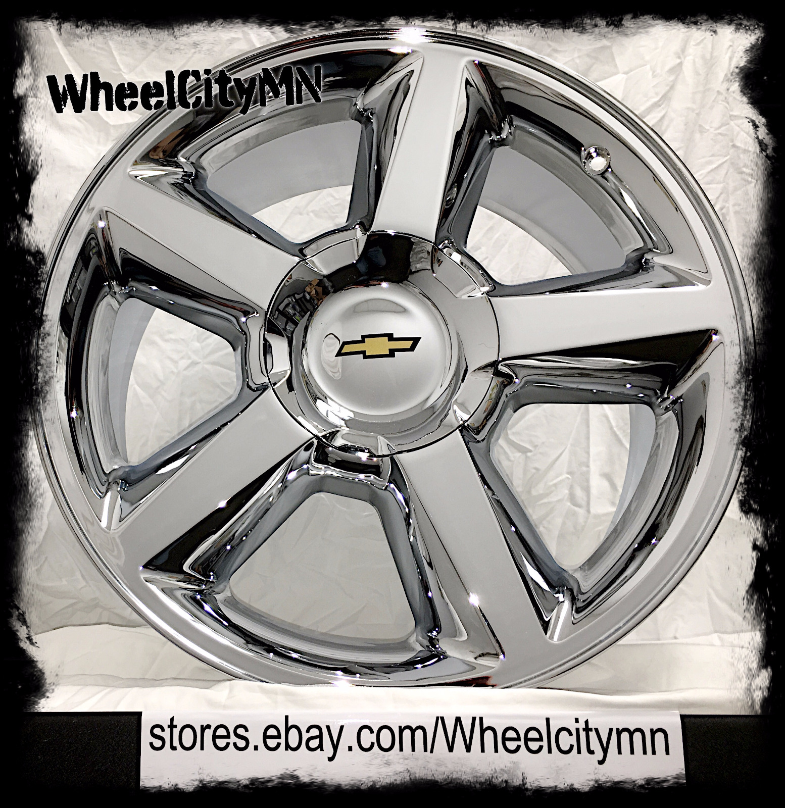 sierra set chevrolet black style inserts wheels with hollander chevy escalade yukon cadillac chrome fits gmc of for silverado rims denali tahoe