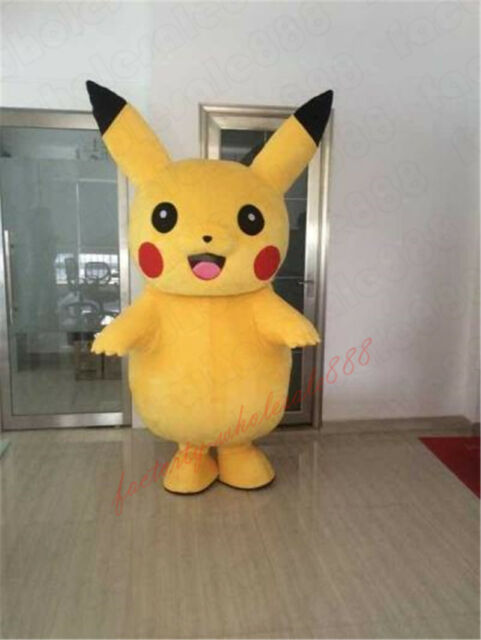Adult Pokemon Go Pikachu Mascot Costume Halloween cosplay party Xu0027mas dress gift & Adult Pokemon Go Pikachu Mascot Costume Halloween Cosplay Party X ...