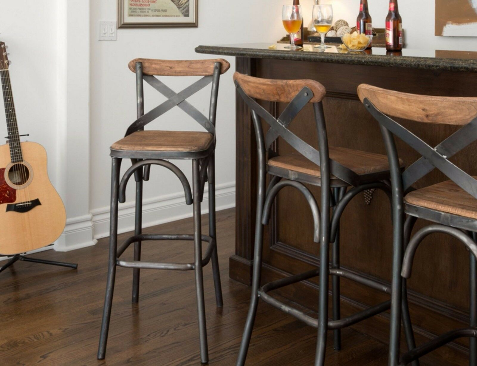 Bar Stools 30 Inches With Back Industrial Metal Unique Country