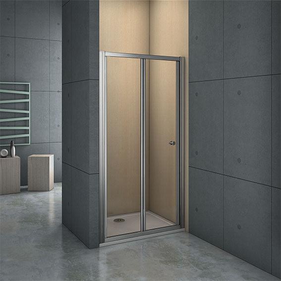 900x1000mm Frame Bi Fold Shower Enclosure Walkin 5mm Safety Glass