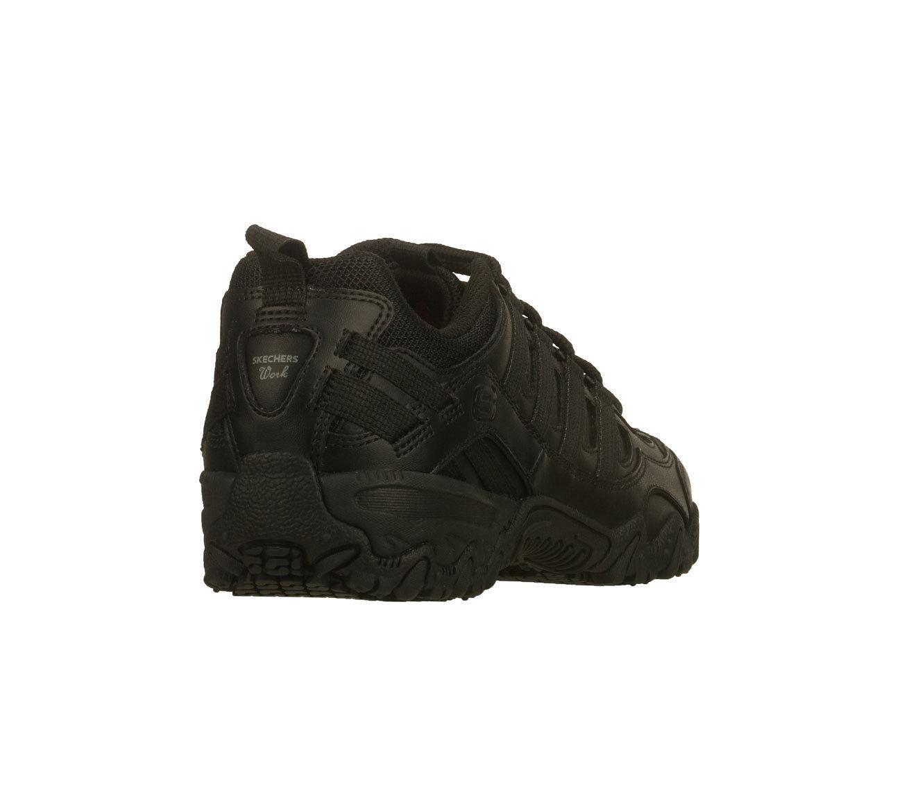 comforter men resistant work comfort comfortable s black slip skechers pin shoes occupational mesh sporty on