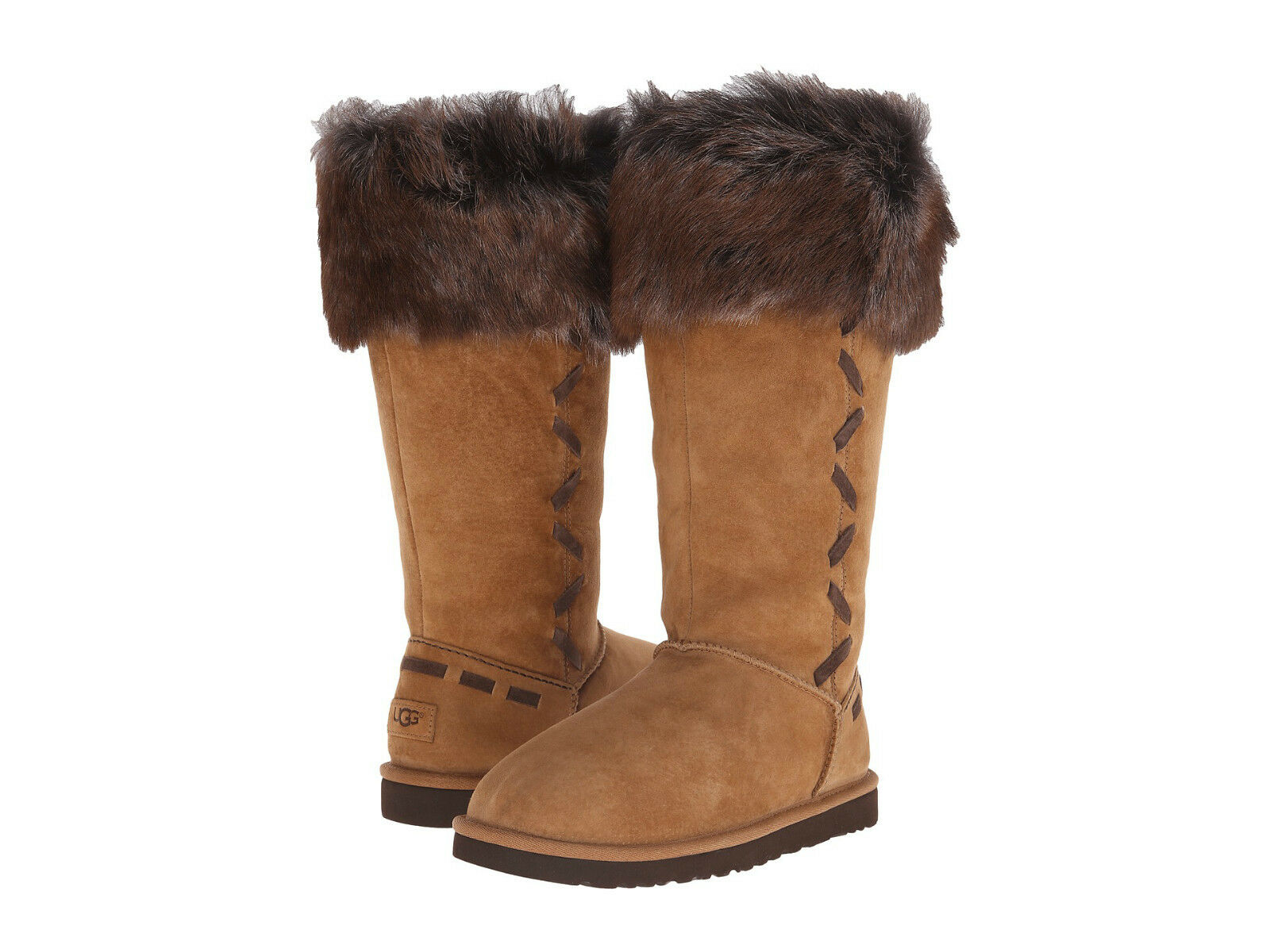 Womens Boots UGG Rosana Chestnut Suede