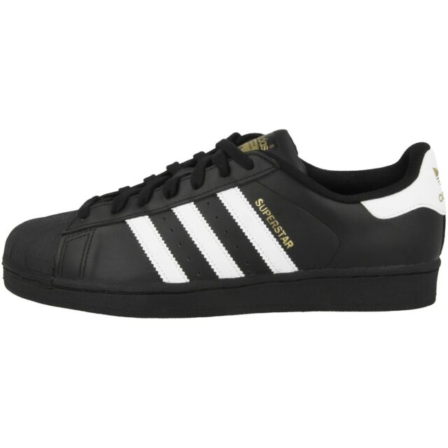ADIDAS Superstar Foundation Scarpe Retro Sneaker Classico BLACK WHITE b27140
