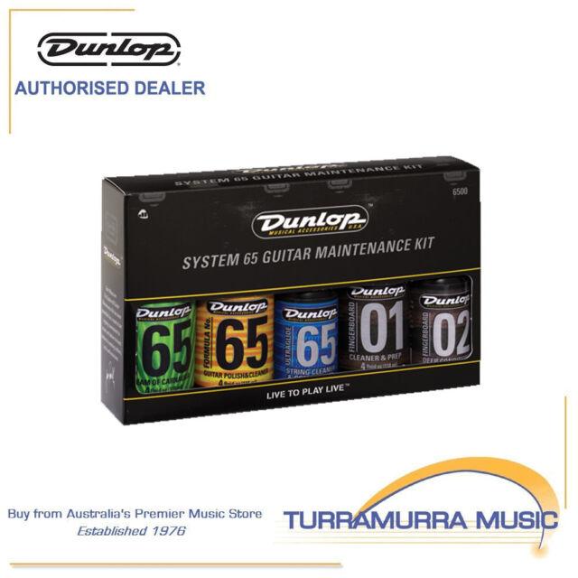Jim Dunlop System 65 Guitar Maintenance Care Cleaning Pack Kit Set Gift Present