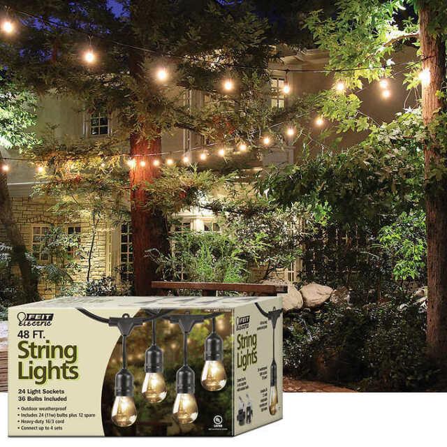Feit electric weatherproof outdoor decorative string lights 48ft feit electric weatherproof outdoor decorative string lights 48ft yard patio 24 workwithnaturefo