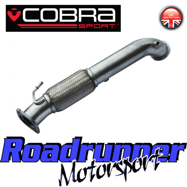 "Cobra Sport Focus ST250 MK3 Decat Downpipe 3"" Exhaust Stainless Front Pipe FD43"