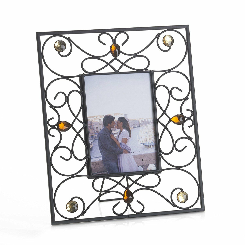 Melannco Jeweled Photo Picture Frame 5 X 7 | eBay