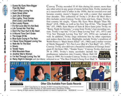 Conway Twitty - 20 Best Of Must Have Hits [New CD]