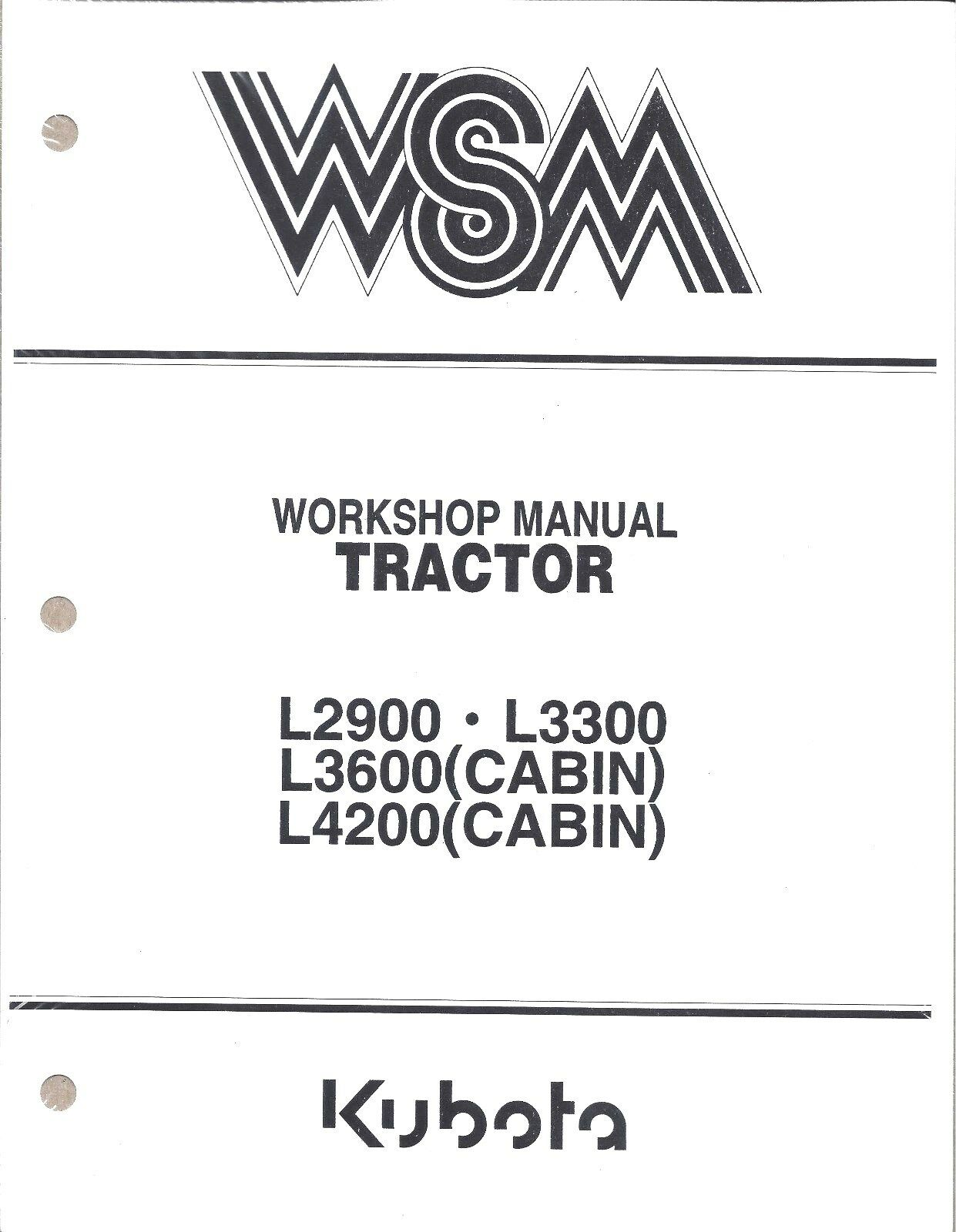 s l1600 kubota l2900 l3300 l3600 l4200 workshop service repair manual ebay kubota l4200 wiring diagram at soozxer.org