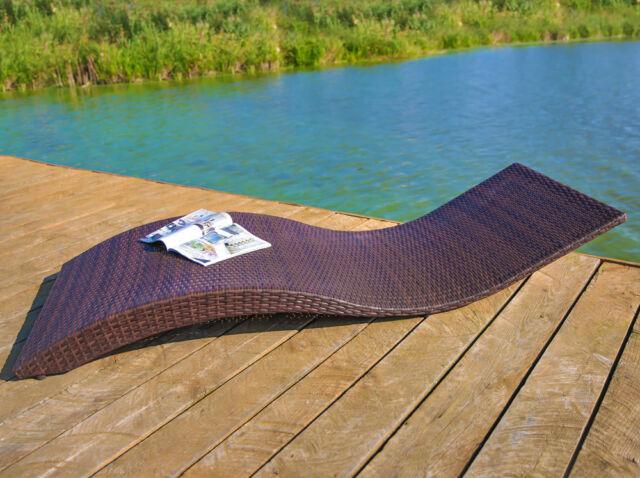 47381 Liegebett David Rattan liege Sonnenliege Relaxliege ...