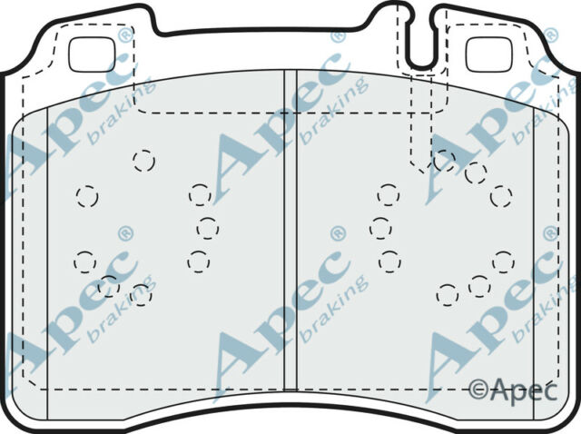 PAD756 GENUINE APEC FRONT BRAKE PADS FOR MERCEDES-BENZ SL