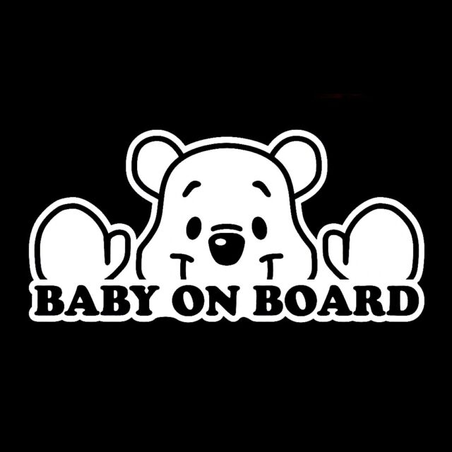 Baby On Board Disney Cute Sign Vinyl Jdm Ute Car X Decal Sticker