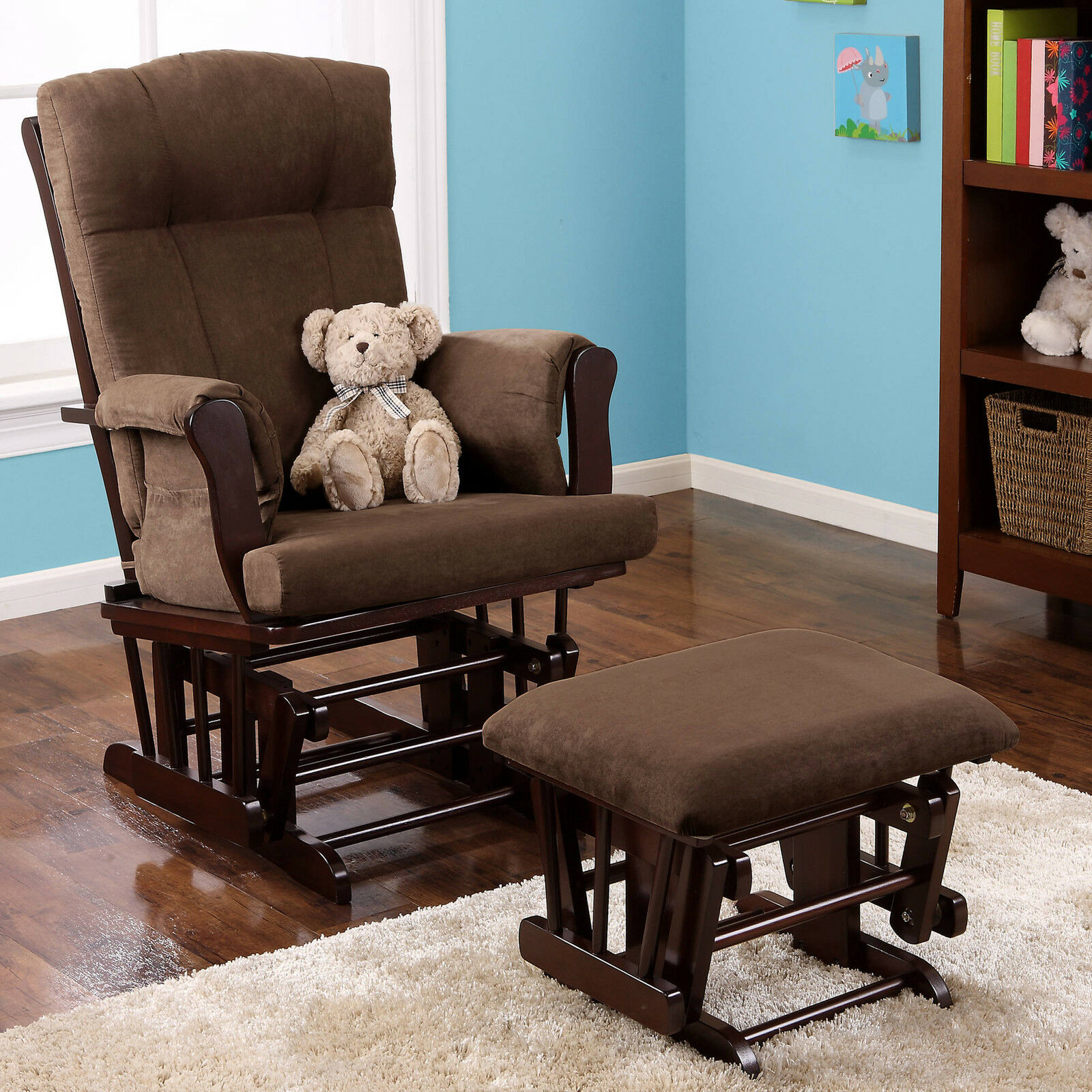 and loggliderrockingchair chair log rocking ottoman cabin glider htm place