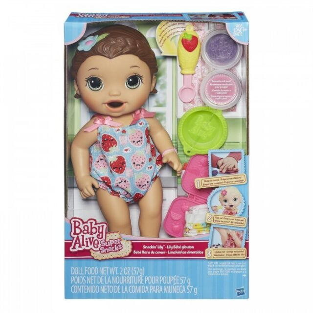 Baby Alive Super Snacks Snackin' Lily Brunette