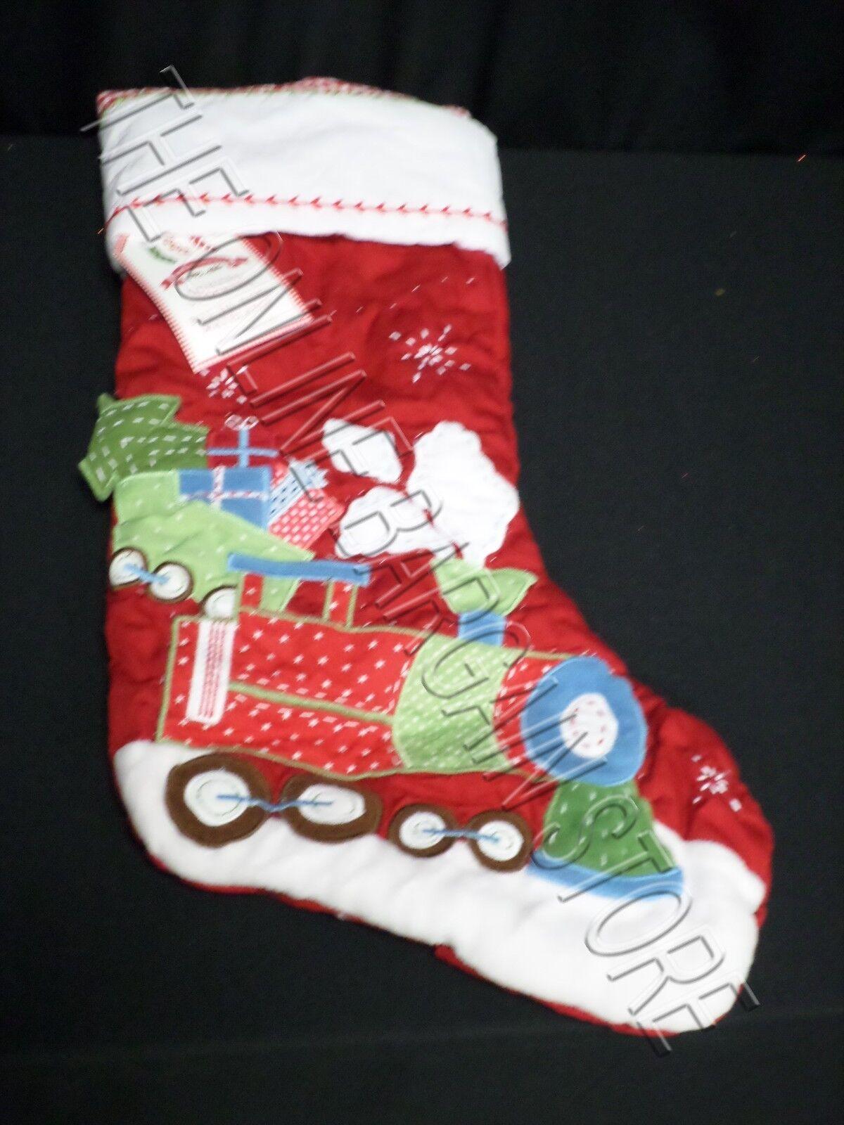 Pottery Barn Kids Christmas Holiday Train Whimsical Winter Stocking ...