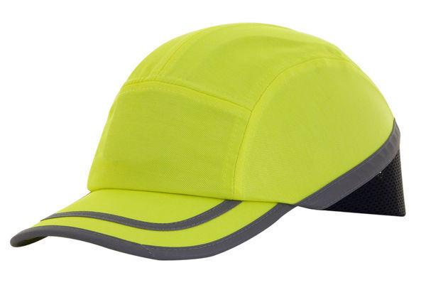 B-BRAND SAFETY BASEBALL CAP BUMP HARD HAT YELLOW FOR HEAD SAFETY