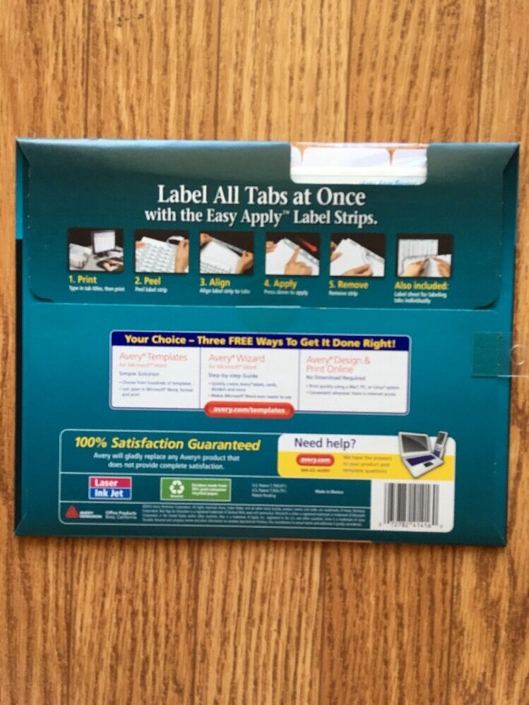 Avery Clear Label Index Maker Dividers 5 Tabs 3 Sets 41416 Uses