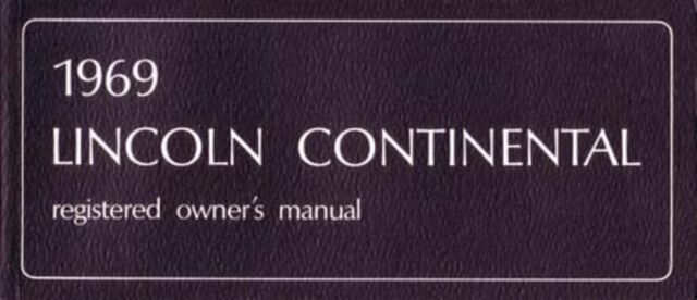 1969 lincoln continental owners manual user guide reference operator rh ebay co uk 2002 lincoln continental owners manual 2001 lincoln continental owners manual
