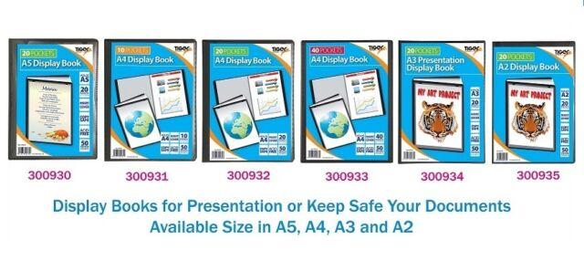 Premium Quality Presentation Display Book Folder Portfolio Black In A5,A4,A3,A2