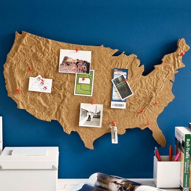 Design Ideas USA Cross Country Message Cork Board United States - Corkboard us map