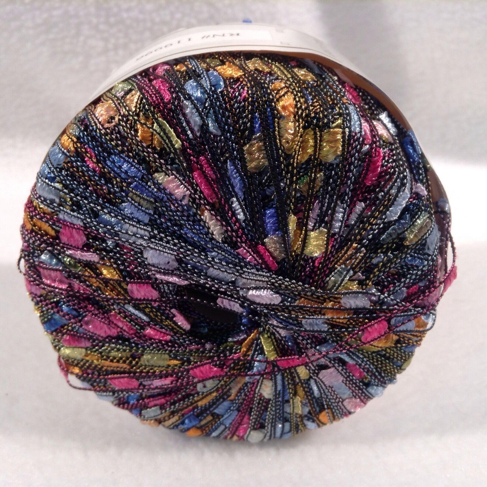 KFI Knitting Fever Dazzle #101 Blue Yellow Pink Trellis Ladder ...