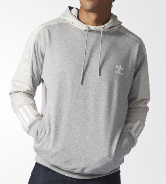 Adidas Originals Men's NOVA DOOM BLOCK Hoodie Grey Heather BK2771 b