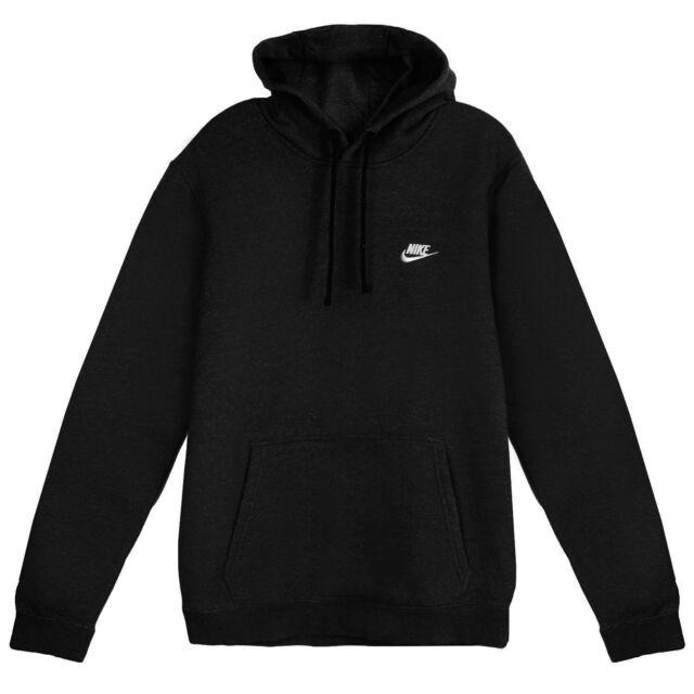 Nike Mens Sportswear Pull Over Club Hooded Sweatshirt ...
