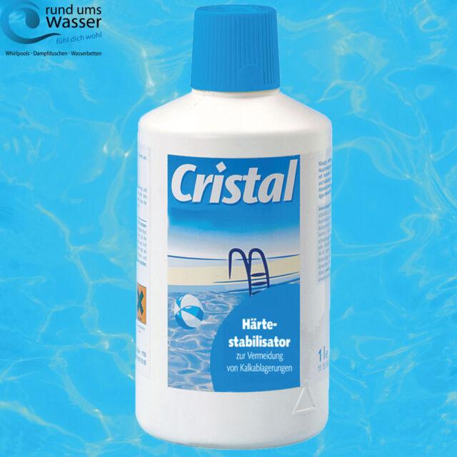 Cristal Härtestabilisator 1 Liter gegen Kalkablagerungen Pool