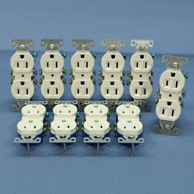 10 Cooper Wiring White Outlets Duplex Receptacle 15a 270W | eBay