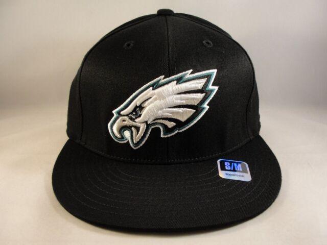 87fb57108 ... best philadelphia eagles nfl reebok size s m flex hat cap black 2510e  32d98