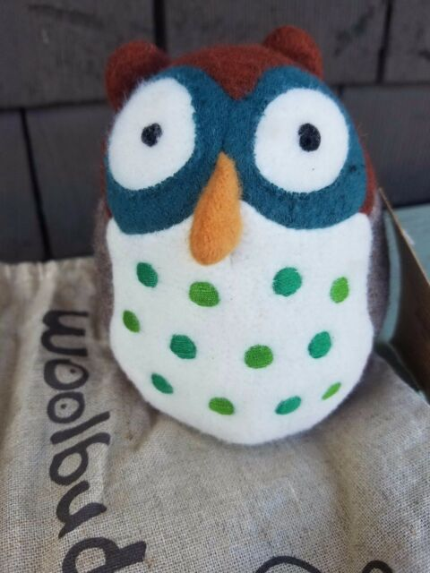 Woolbuddy Amelia The Owl Small Handmade Wool Stuffed Animal Toy Gift