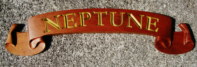 Custom Carved Wooden Name Board Nautical Boat Home Office Door ...