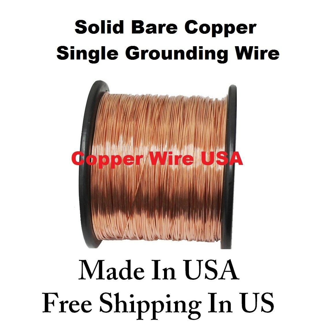14 AWG Solid Bare Copper Single Grounding Wire ( 160 Ft. 2 LB ...