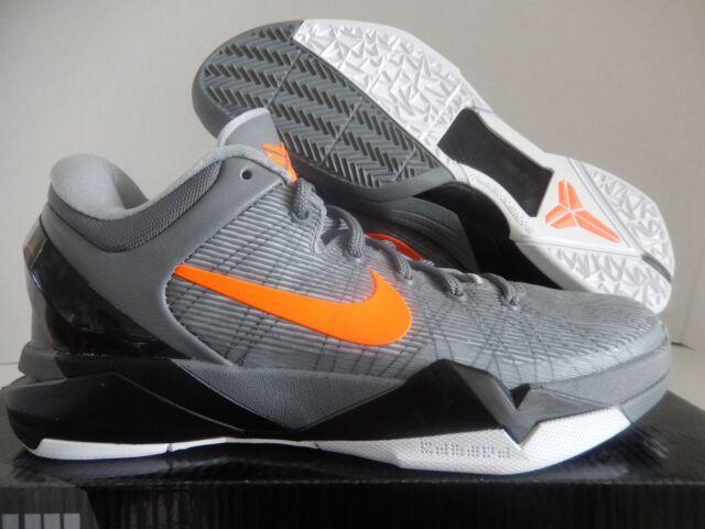 new concept 3391a c7a86 ... Wolf Grey Orange Black Shoes NIKE ZOOM KOBE VII 7 SYSTEM ...