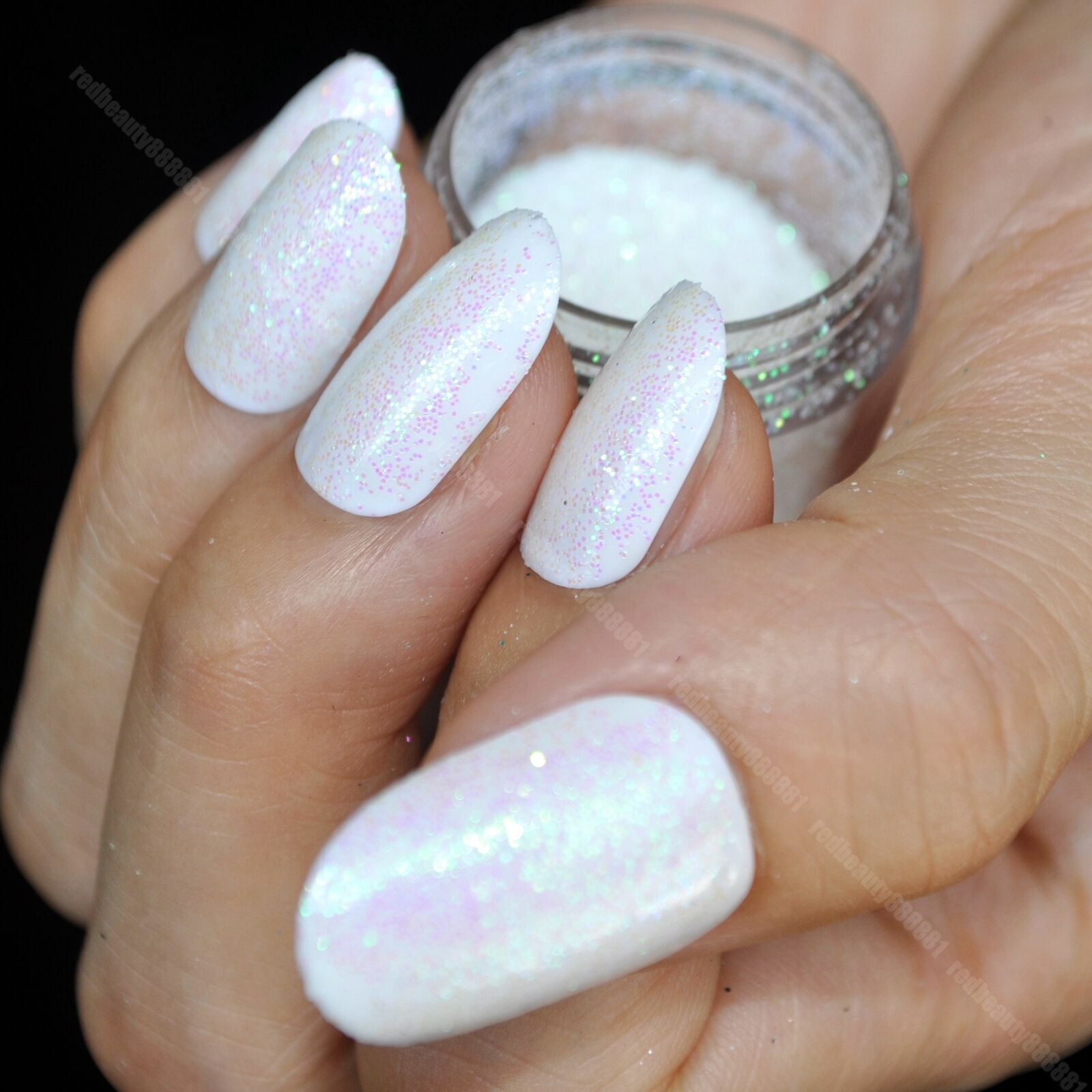 Sparkle Transparent White Nail Art Glitter DIY Manicure Small ...