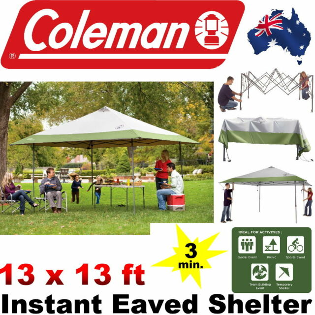 Coleman 4x4M Instant Shelter Outdoor Foldable Portable Lightweight Shade Canopy  sc 1 st  eBay & Coleman 13 X 13 FT Instant Eaved Shelter UVGuard 50 UPF Protection ...