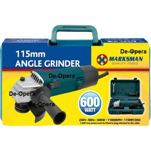 NEW 4 ½ ANGLE GRINDER 600WATT IN COLOUR BOX SET 115MM DIY TOOL KIT DICS POWER