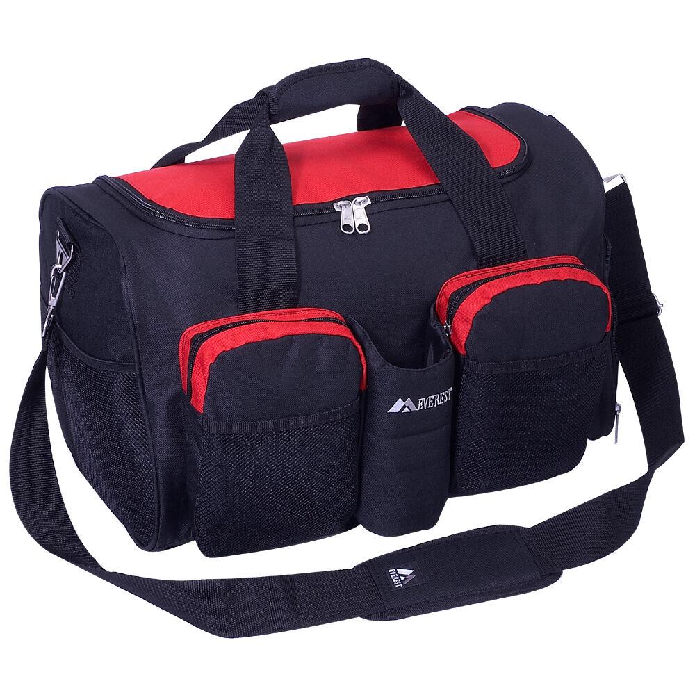 Everest Gym Bag With Wet Pocket 600d Polyester 2 Front Zippered
