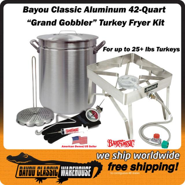 Deep Fryer Turkey 42 Quart Aluminum Ss Burner Oversized Kit By Bayou Clic